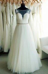 'A' vonalu menyasszonyi ruha